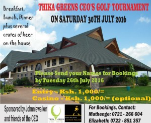 30th July Golf