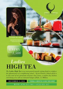 Ladies High Tea @ Thika Greens Golf Resort