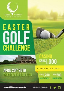 Easter Golf Challenge 2019 @ Thika Greens Golf Resort
