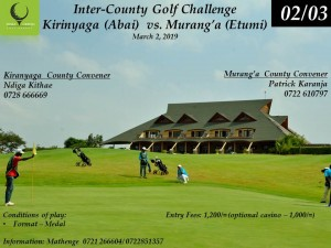 Inter-County Golf Challenge @ Thika Greens Golf Resort