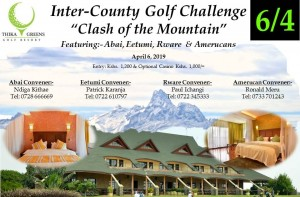 "Inter-County Golf Challenge ""Clash of the Mountain"" @ Thika Greens Golf Resort"