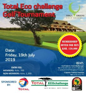 Total Eco-challenge Golf Tournament @ Thika Greens Golf Resort