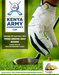 Kenya Amy Commander's Cup @ Thika Greens Golf Resort