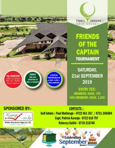 Friends Of The Captain Tournament @ Thika Greens Golf Resort