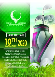 Challenge Club Night @ Thika Greens Golf Resort