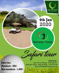 Safari Tour 2020 @ Thika Greens Golf Resort