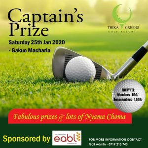 Captain's Prize @ Thika Greens Golf Resort