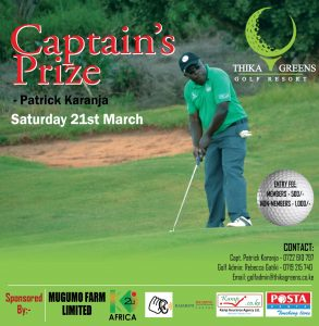 Captain's Prize(Cancelled) @ Thika Greens Golf Resort